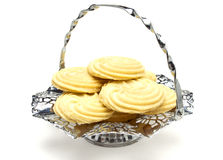 Viennese Swirl Biscuits platter Royalty Free Stock Image