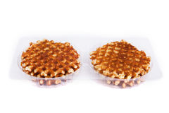Viennese Wafer biscuit isolated Royalty Free Stock Photos