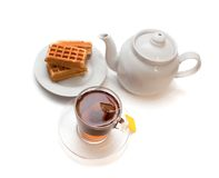 The Viennese wafers and tea Royalty Free Stock Image