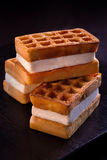 Viennese waffles Royalty Free Stock Image