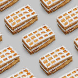 Viennese waffles Stock Photography