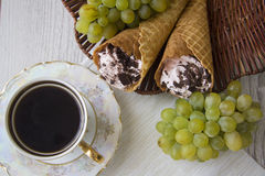 Viennese waffles with rolls Stock Photography