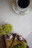 Viennese waffles with rolls Royalty Free Stock Photo