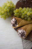 Viennese waffles with rolls Royalty Free Stock Photography