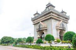 Vientiane, Λάος 19 Ιουνίου 2014: Patuxai, ένα αναμνηστικό μνημείο σε Vientiane Λάος Στοκ Εικόνες