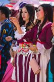 Vientiane Capital, Laos - November 2017: Hmong Girl wearing the Hmong traditional clothes during the Hmong New Year celebration in Stock Image