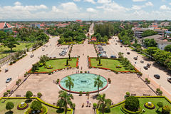 Vientiane cityscape Stock Images