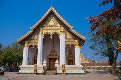 Vientiane - huvudstaden av Laos Arkivfoto