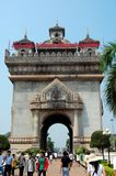 Patuxai Victory Gate or Gate of Triumph Royalty Free Stock Images
