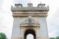 Vientiane, Laos- June 19, 2014:Patuxai, a memorial monument in Vientiane Laos Royalty Free Stock Photo