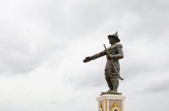 Vientiane Laos Juni 19, 2014: Staty av konungen Chao Anouvong Fotografering för Bildbyråer