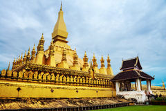 Vientiane, Laos. Pha That Luang temple Royalty Free Stock Images