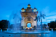 Vientiane At Night Royalty Free Stock Image