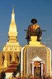 Vientiane - Pha die Luang royalty-vrije stock foto's