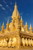 Vientiane - Pha That Luang. The most important national monument in Laos, Pha That Luang in Vientiane. Pha That Luang (Great Stupa, Great Sacret Reliquary) is a Stock Photo