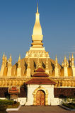Vientiane - Pha That Luang. The most important national monument in Laos, Pha That Luang in Vientiane. Pha That Luang (Great Stupa, Great Sacret Reliquary) is a Royalty Free Stock Photo