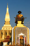 Vientiane - Pha That Luang. The most important national monument in Laos, Pha That Luang in Vientiane. Pha That Luang (Great Stupa, Great Sacret Reliquary) is a Royalty Free Stock Photos