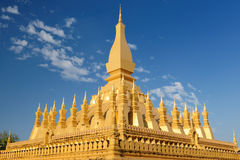 Vientiane - Pha That Luang. The most important national monument in Laos, Pha That Luang in Vientiane. Pha That Luang (Great Stupa, Great Sacret Reliquary) is a Royalty Free Stock Images