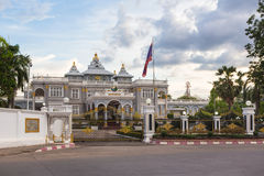 Vientiane presidential palace. In the heart of Laos capital city Royalty Free Stock Photo