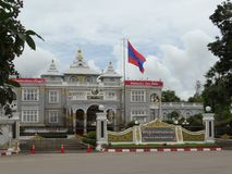 Vientiane presidential palace. In the heart of Laos capital city stock photo