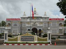 Vientiane presidential palace. In the heart of Laos capital city royalty free stock images