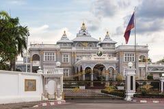 Vientiane presidentpalatset Royaltyfri Bild