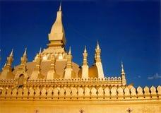 金黄老挝寺庙vientienne 库存图片