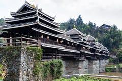 Viento de Chengyang de la gente de Dong y puente de la lluvia imagenes de archivo