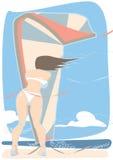 Viento de Kiteboarding ilustración del vector