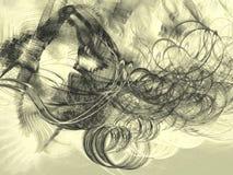 Viento quemado ilustración del vector
