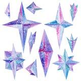 Viento Rose Crystals Design Elements del hielo de la acuarela libre illustration