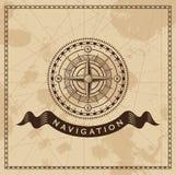 Viento Rose Nautical Compass del vintage Imágenes de archivo libres de regalías