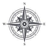 Viento Rose o icono del compás en el fondo blanco Vector stock de ilustración