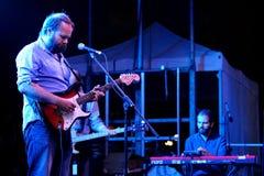 Viento Smith (band) voert levend op stadium tijdens een overleg uit bij de Musical van Barcelona Accio (BAM) Stock Afbeelding