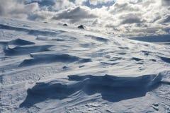 Viento y nieve  Fotografía de archivo libre de regalías