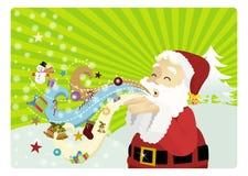 Vientos de la Navidad stock de ilustración