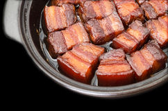 Vientre de cerdo caramelizado vietnamita Foto de archivo libre de regalías