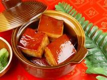 Vientre de cerdo cocido chino, cerdo del dongpo Fotos de archivo libres de regalías