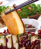 Vientre de cerdo cocido chino, cerdo del dongpo Imagen de archivo libre de regalías
