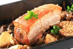 Vientre de cerdo de carne asada Fotos de archivo libres de regalías
