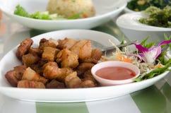 Vientre de cerdo frito Fotografía de archivo libre de regalías