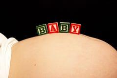 Vientre del bebé Fotografía de archivo libre de regalías