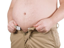 Vientre gordo Imagen de archivo