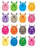 Vientres coloridos del cerdo Fotografía de archivo