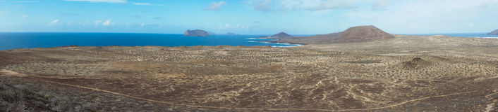 Vieo of La Graciosa Royalty Free Stock Photo