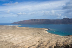 Vieo of La Graciosa Stock Photos