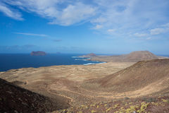 Vieo of La Graciosa Stock Image