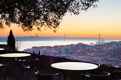 Viepoint at restaurant. Lisbon, Portugal Royalty Free Stock Photography