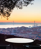 Viepoint at restaurant. Lisbon, Portugal Royalty Free Stock Images