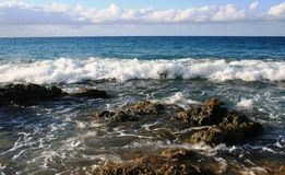 Vieques Island Surf Royalty Free Stock Images